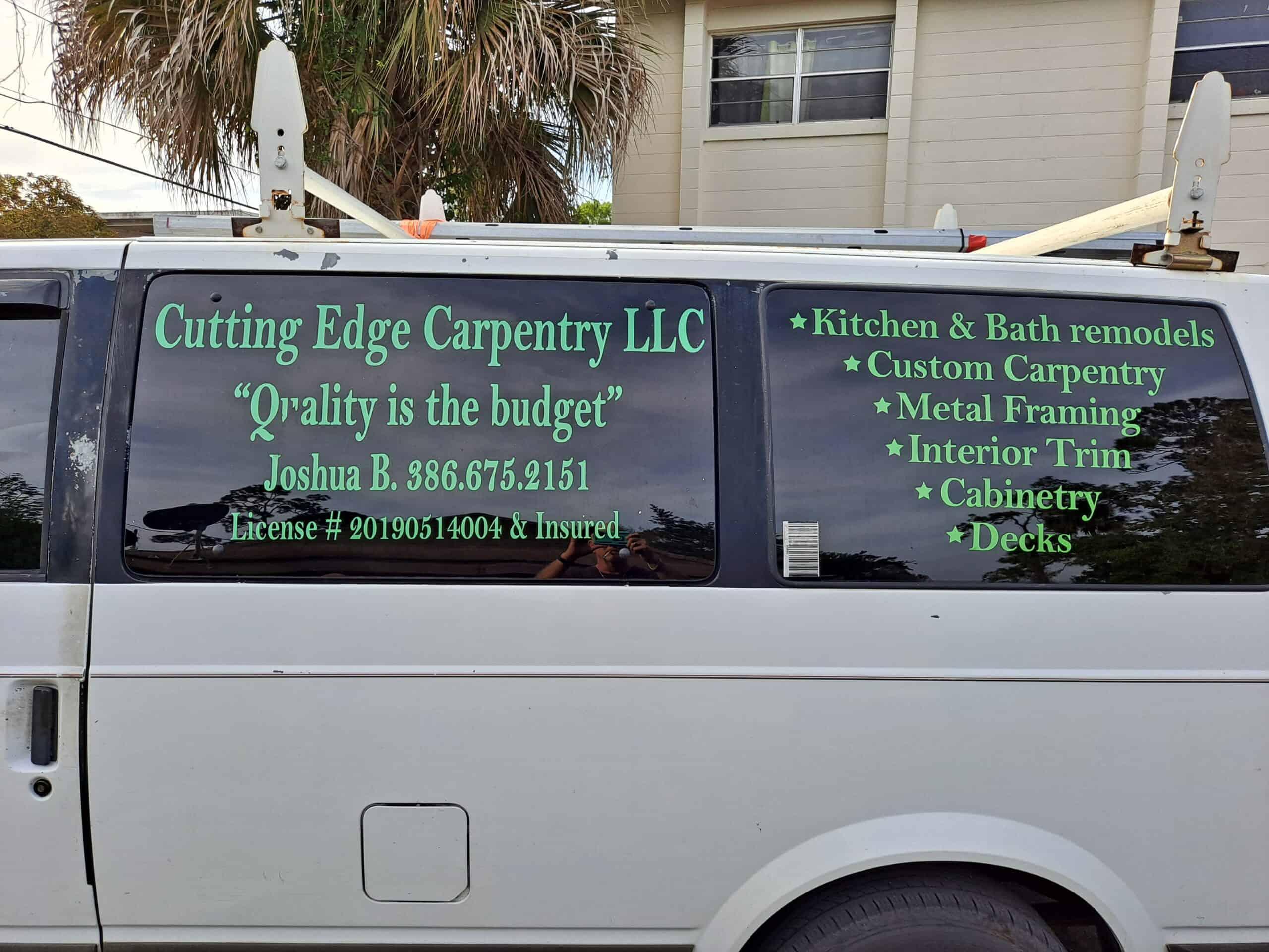 Cutting Edge Carpentry Van
